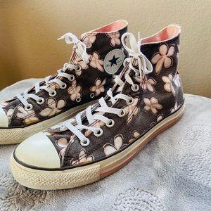 Converse All Star Hi Tops Pink / White Plumeria